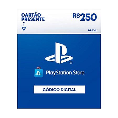 Cartão Presente Playstation Store R$250 Brasil - Sony