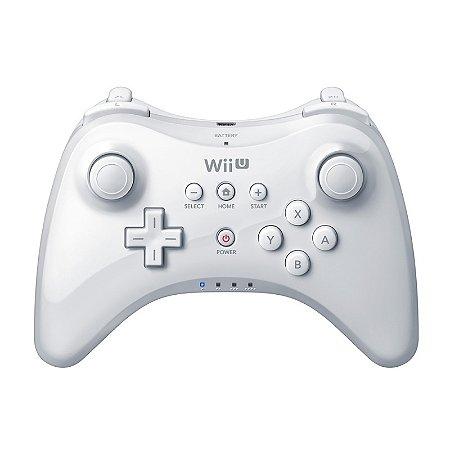 Controle Nintendo Pro Controller Branco sem fio - Wii U