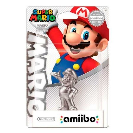 Nintendo Amiibo: Super Mario Silver - Wii U e New Nintendo 3DS