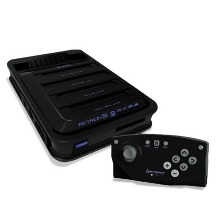 Console 10 em 1 Hyperkin Retron 5 Preto - NES, SNES, Genesis, Mega Drive, Famicon e mais...
