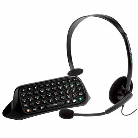 Chatpad + Headset com fio - Xbox 360