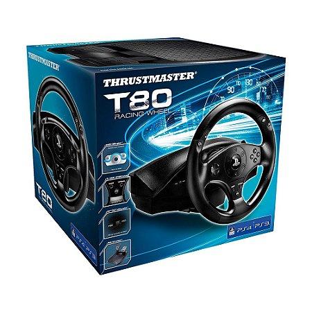 Volante Thrustmaster T80 Racing Wheel - PS3 e PS4