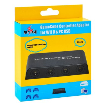 Adaptador de Controle Gamecube May Flash USB 4 Portas - Wii U & PC