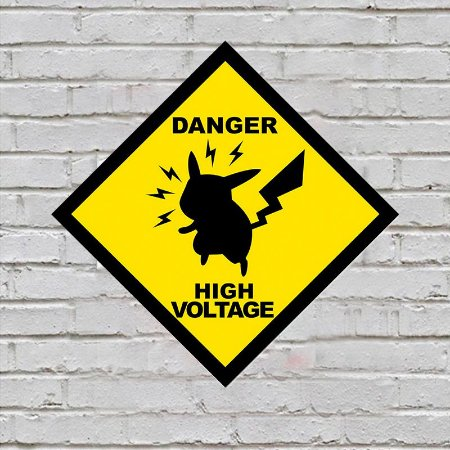 Placa de Parede Decorativa: Danger! High Voltage - ShopB