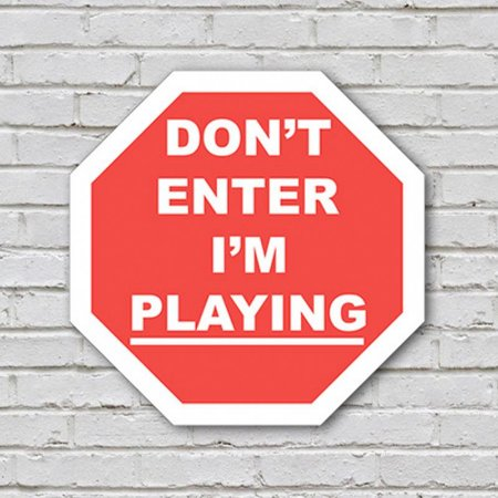 Placa de Parede Decorativa: Dont Enter! Im Playing - ShopB