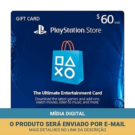 Cartão Presente $50 + $10 (dólares) PSN Americana - Sony