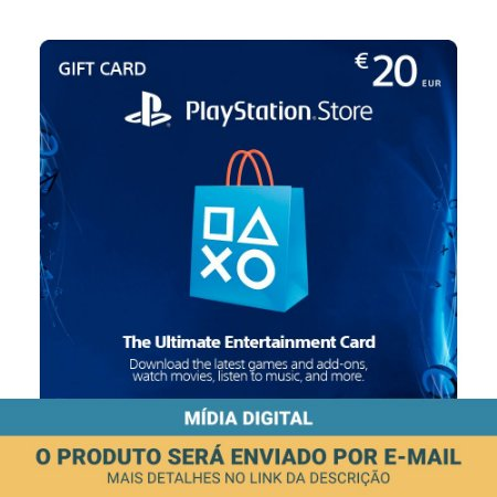 Cartão Presente €20 (euros) PSN Portugal - Sony