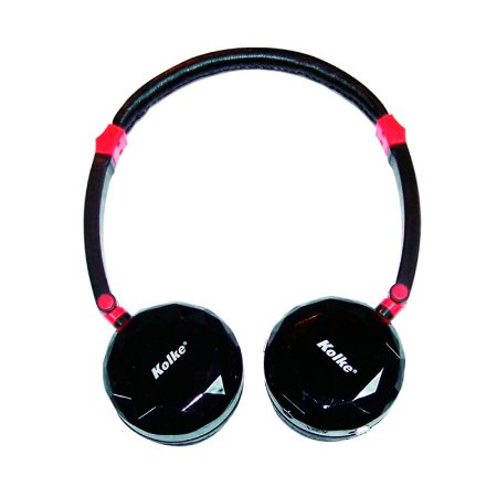 Headphone Kolke Multimídia Preto e Vermelho sem fio com Rádio FM e Cartão Micro Sd