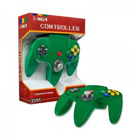 Controle N64 Hyperkin Cirka Verde com fio - Nintendo 64