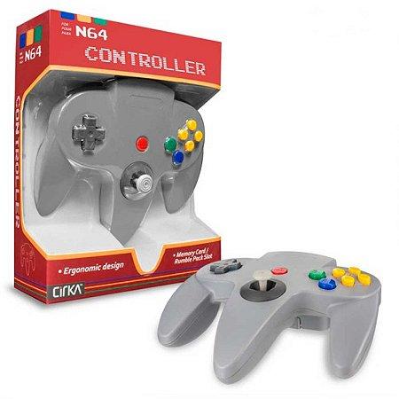 Controle N64 Hyperkin Cinza Cirka com fio - Nintendo 64