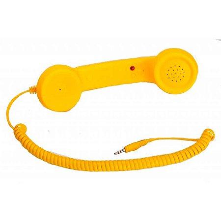 Fone Headset Retro Coco Phone Amarelo