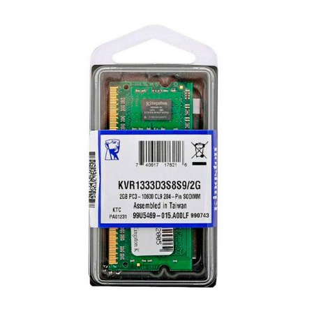 Memória Para Notebook Kingston DDR3 2GB 1333mhz