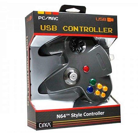 Controle N64 Hyperkin Cinza Cirka USB com fio - Pc / Mac
