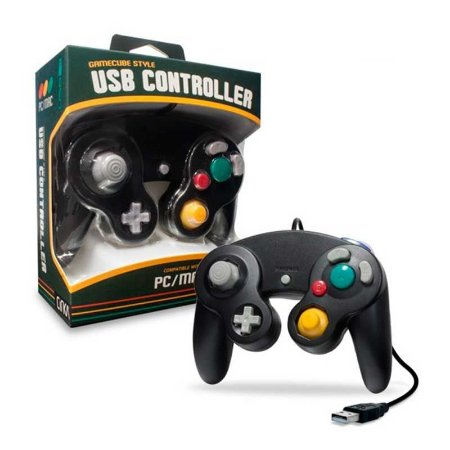 Controle Gamecube Hyperkin Preto Cirka USB com fio - Pc / Mac