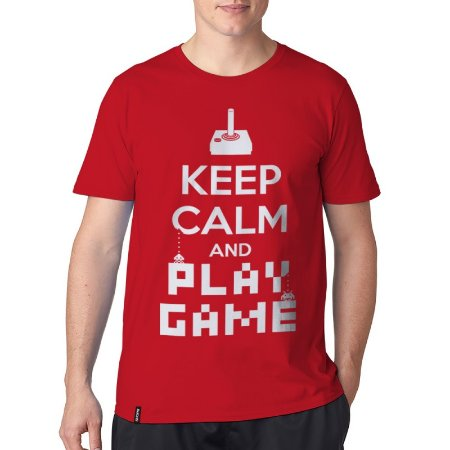 Camiseta ShopB Keep Calm and Play Game - Modelo 1