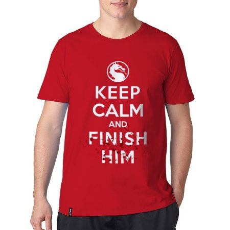 Camiseta ShopB Keep Calm and Finish Him - Modelo 1