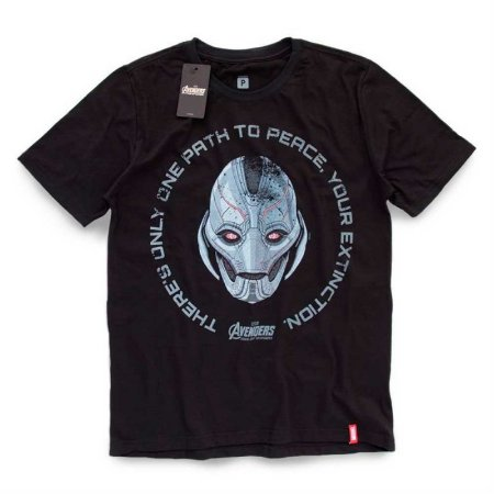 Camiseta Studio Geek Vingadores Ultron Face Marvel - Modelo 2