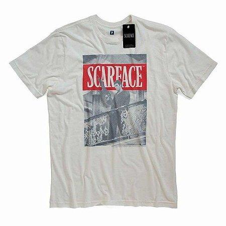 Camiseta Studio Geek Scarface Branca - Modelo 2