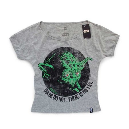 Camiseta Feminina Studio Geek Yoda Do or Not Do Star Wars - Modelo 6