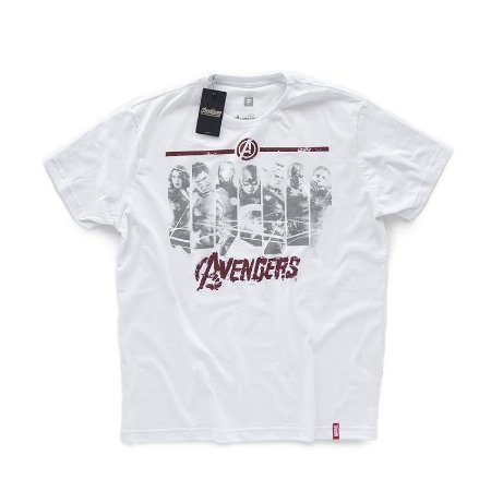 Camiseta Studio Geek Vingadores Faixas Marvel - Modelo 3