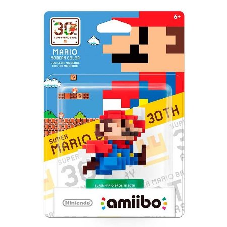 Nintendo Amiibo: Super Mario Modern Color 30th - Wii U e New Nintendo 3DS
