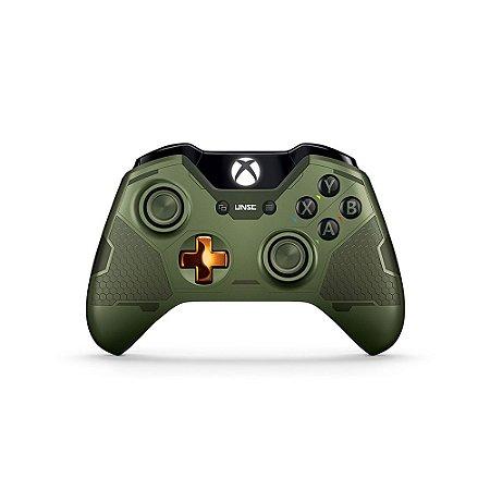 Controle Microsoft (Edição Halo 5: Guardians The Master Chief) sem fio - Xbox One