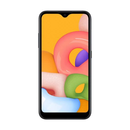 "Smartphone Samsung Galaxy A01 32GB 13MP Tela 5.7"" Preto"