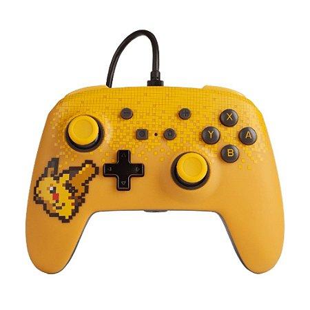 Controle PowerA com fio (Pixel Pikachu Edition) - Switch