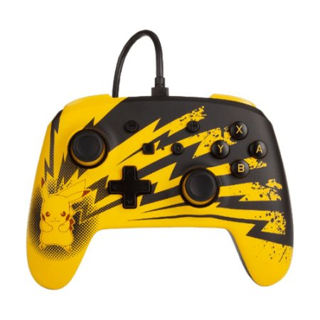 Controle PowerA com fio (Pikachu Lightning Edition) - Switch