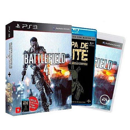 Jogo Battlefield 4 + Filme Tropa de Elite - PS3