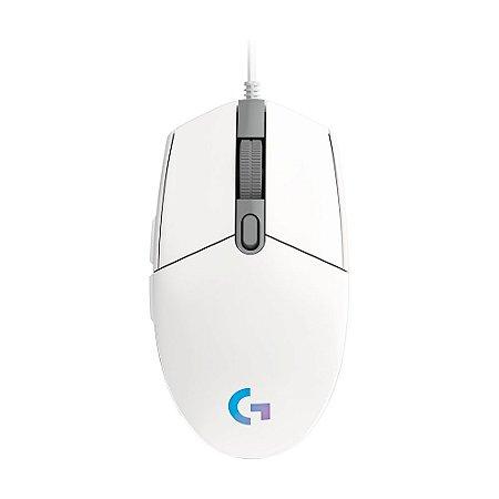 Mouse Gamer Logitech G203 8000 DPI RGB Branco com fio