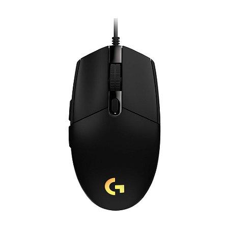 Mouse Gamer Logitech G203 8000 DPI RGB Preto com fio