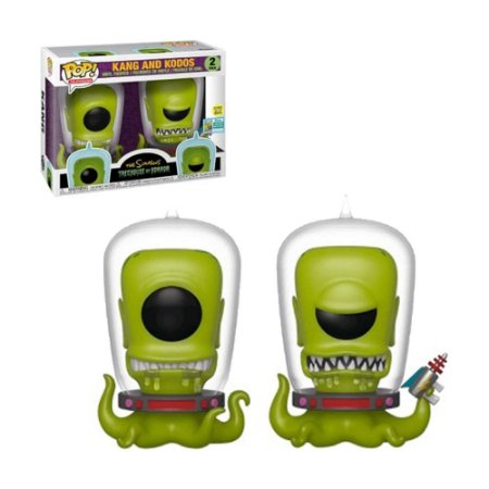 Boneco Kang and Kodos 2 The Simpsons Treehouse of Horror - Funko Pop!