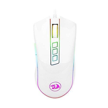 Mouse Gamer Redragon Cobra M711W Lunar White RGB 10000 DPI com fio