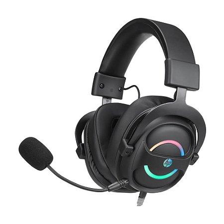 Headset Gamer HP DHE-8006 7.1 RGB com fio - PC