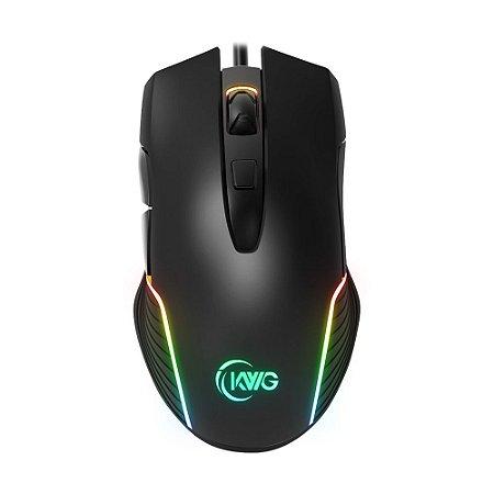 Mouse Gamer KWG Orion M1 RGB 7000 DPI com fio