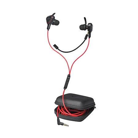 Fone de Ouvido Gamer In-Ear Trust Cobra GXT 408 com fio - Multiplataforma