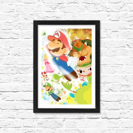 Pôster Emoldurado ShopB Super Mario - Modelo 2