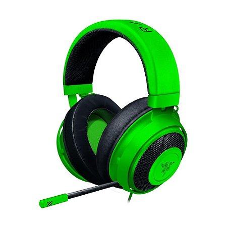 Headset Gamer Razer Kraken 7.1 Green com fio - Multiplataforma