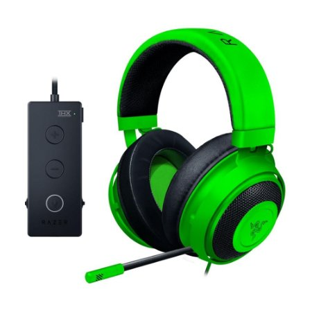 Headset Gamer Razer Kraken Tournament Edition 7.1 Green com fio - Multiplataforma