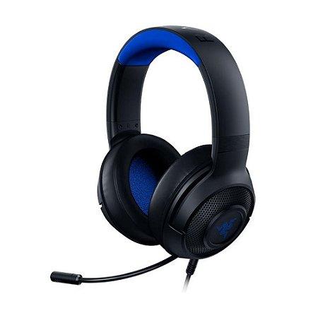Headset Gamer Razer Kraken X for Console 7.1 Blue com fio - Multiplataforma