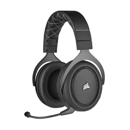 Headset Gamer Corsair HS70 PRO Wireless Carbono 7.1 sem fio - PC e PS4