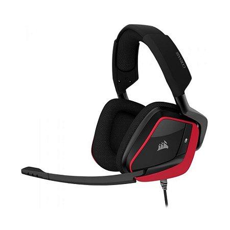 Headset Gamer Corsair Void Elite RGB Cherry 7.1 com fio - Multiplataforma