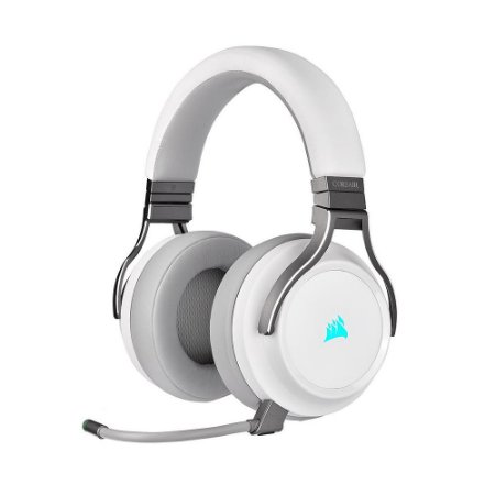 Headset Gamer Corsair Virtuoso RGB Wireless White sem fio - PC e PS4