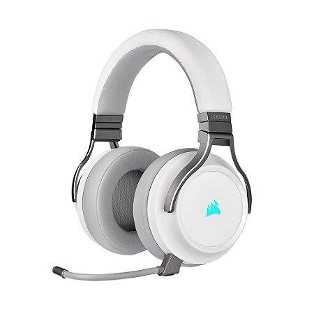 Headset Gamer Corsair Virtuoso RGB Wireless White - PC e PS4