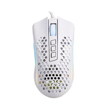 Mouse Gamer Redragon Storm Lunar White M808W-RGB RGB 12400 DPI com fio