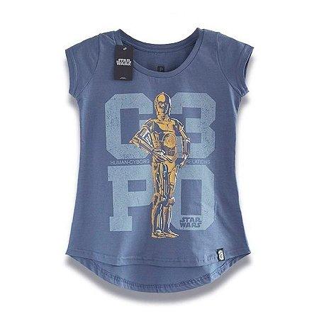 Camiseta Feminina Studio Geek C3PO Star Wars - Modelo 15