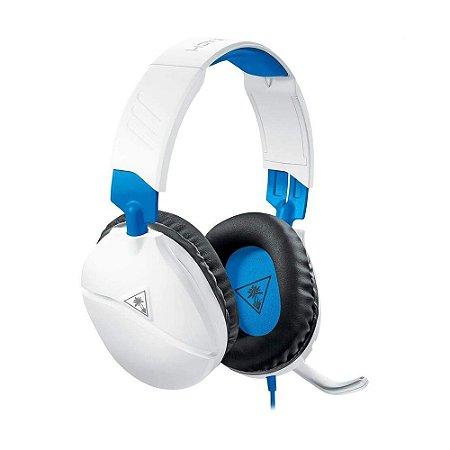 Headset Gamer Turtle Beach Recon 70 Branco com fio - Multiplataforma