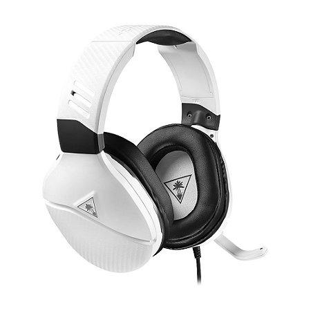 Headset Gamer Turtle Beach Recon 200 Branco com fio - Multiplataforma