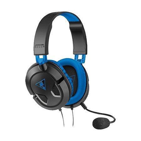 Headset Gamer Turtle Beach Recon 50P Preto com fio - Multiplataforma